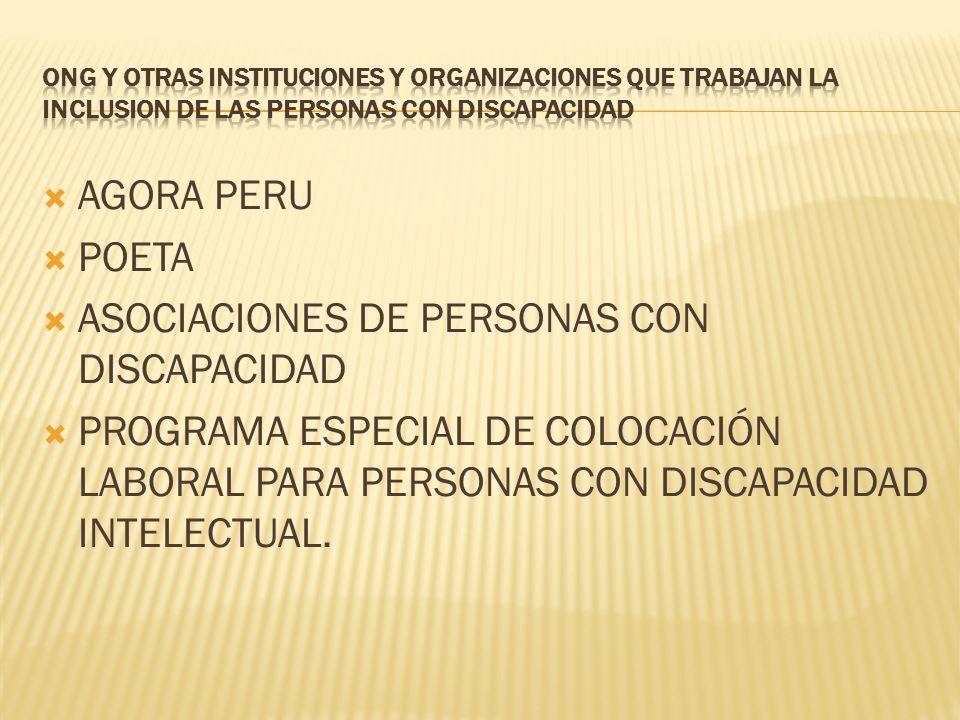 ASOCIACIONES DE PERSONAS CON DISCAPACIDAD