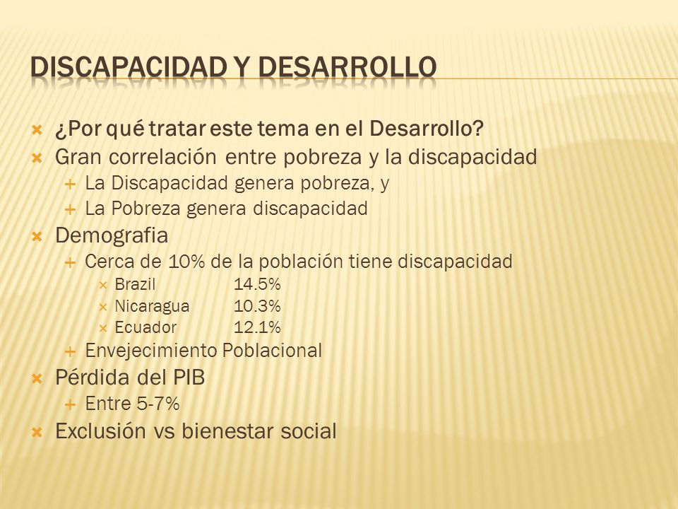 DISCAPACIDAD Y DESARROLLO