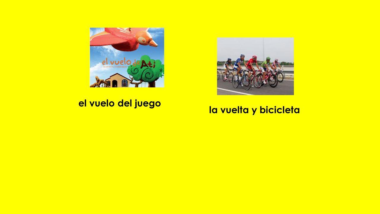 el vuelo del juego la vuelta y bicicleta