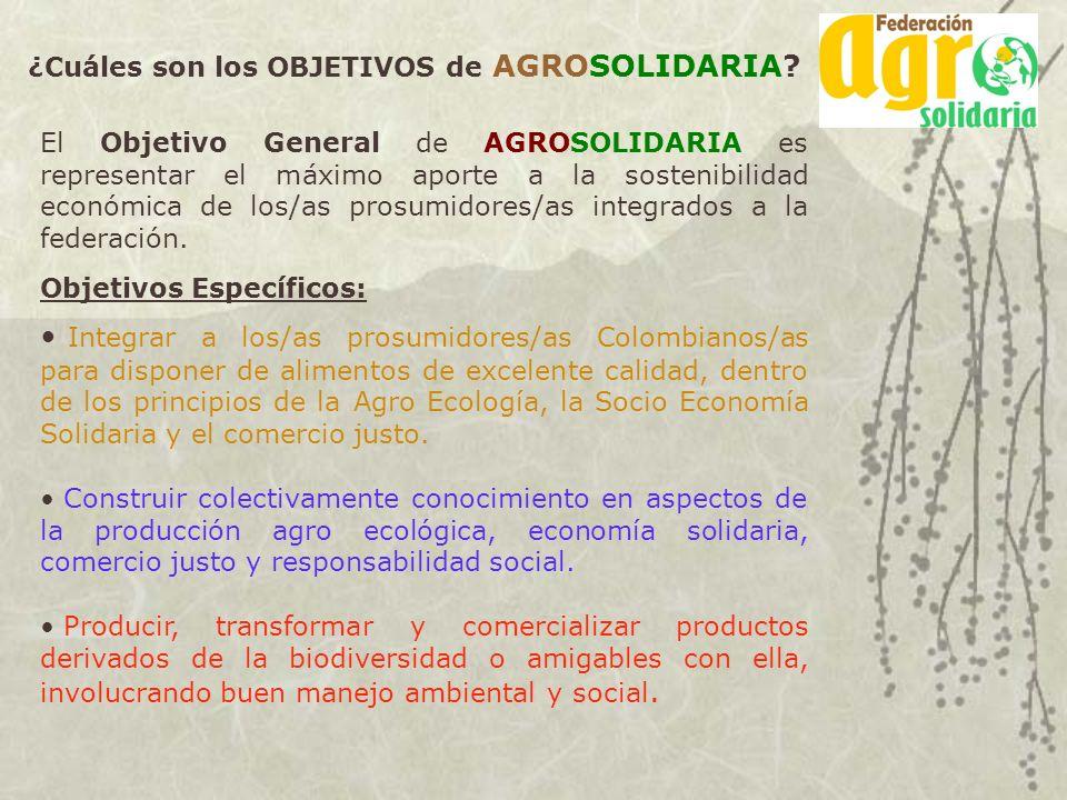 ¿Cuáles son los OBJETIVOS de AGROSOLIDARIA