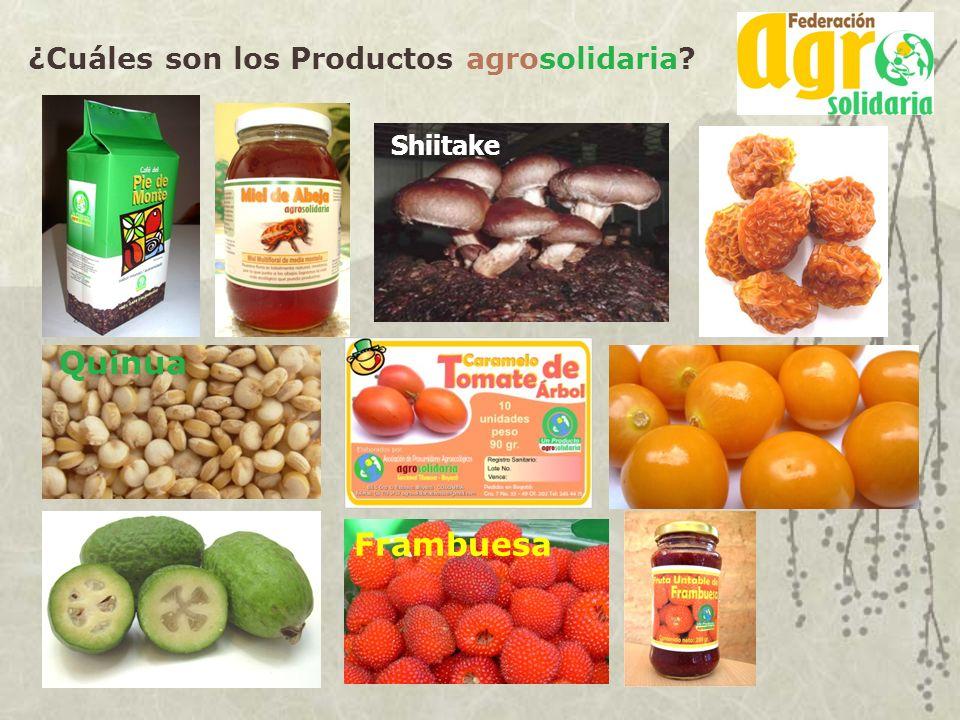 ¿Cuáles son los Productos agrosolidaria