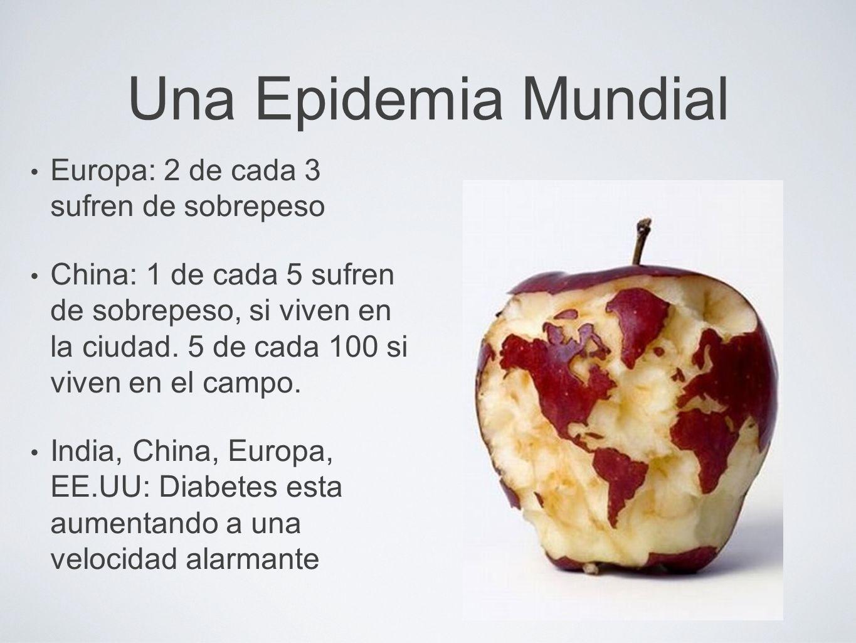 Una Epidemia Mundial Europa: 2 de cada 3 sufren de sobrepeso