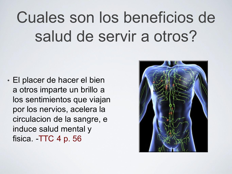 Cuales son los beneficios de salud de servir a otros
