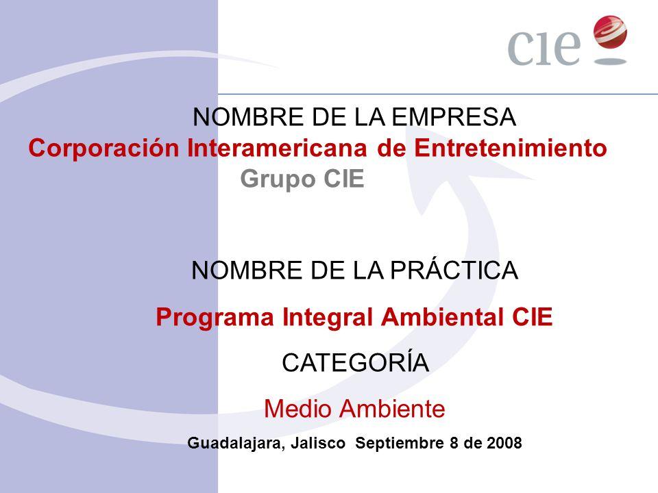 Programa Integral Ambiental CIE