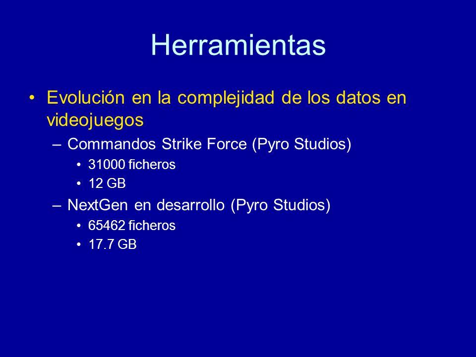 Herramientas Evolución en la complejidad de los datos en videojuegos
