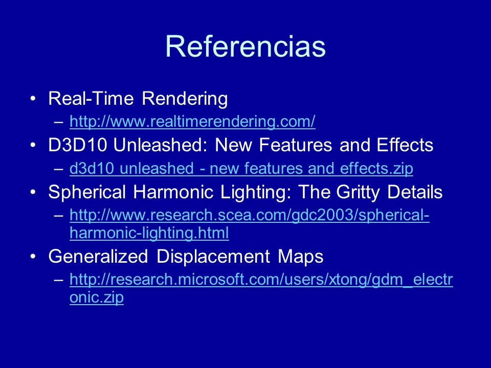 Referencias Real-Time Rendering
