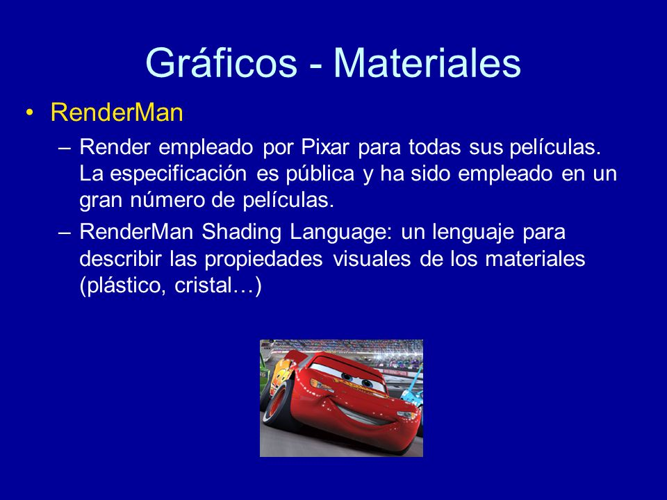Gráficos - Materiales RenderMan