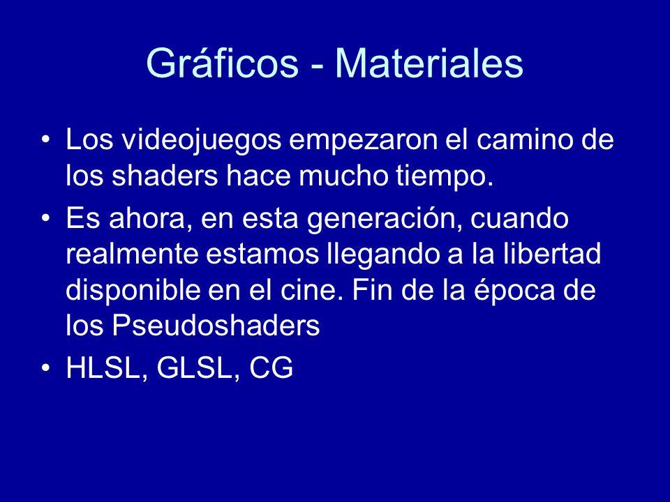 Gráficos - MaterialesLos videojuegos empezaron el camino de los shaders hace mucho tiempo.