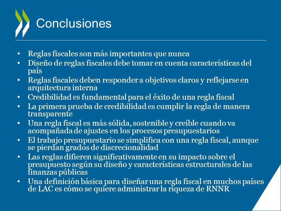 Conclusiones Reglas fiscales son más importantes que nunca