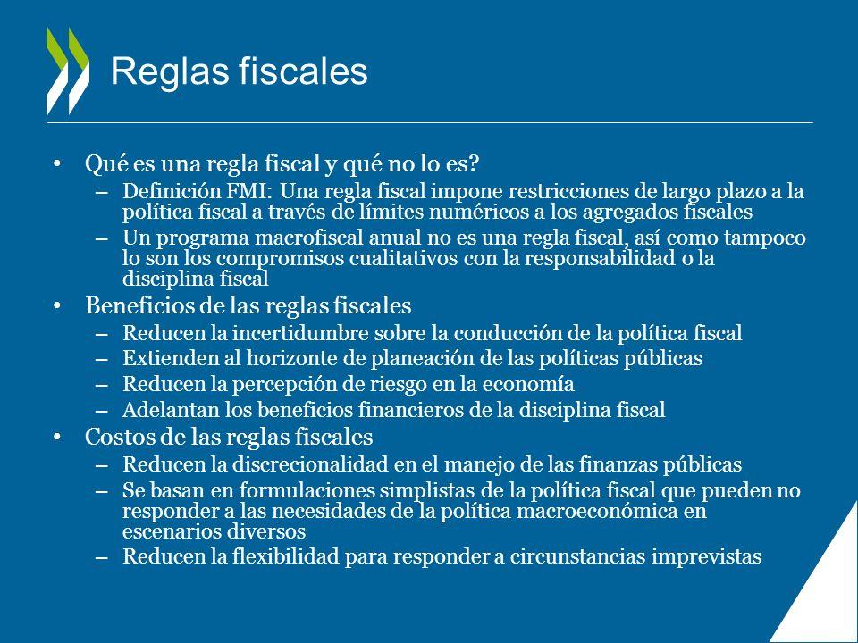 Reglas fiscales Qué es una regla fiscal y qué no lo es