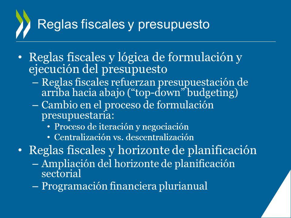 Reglas fiscales y presupuesto