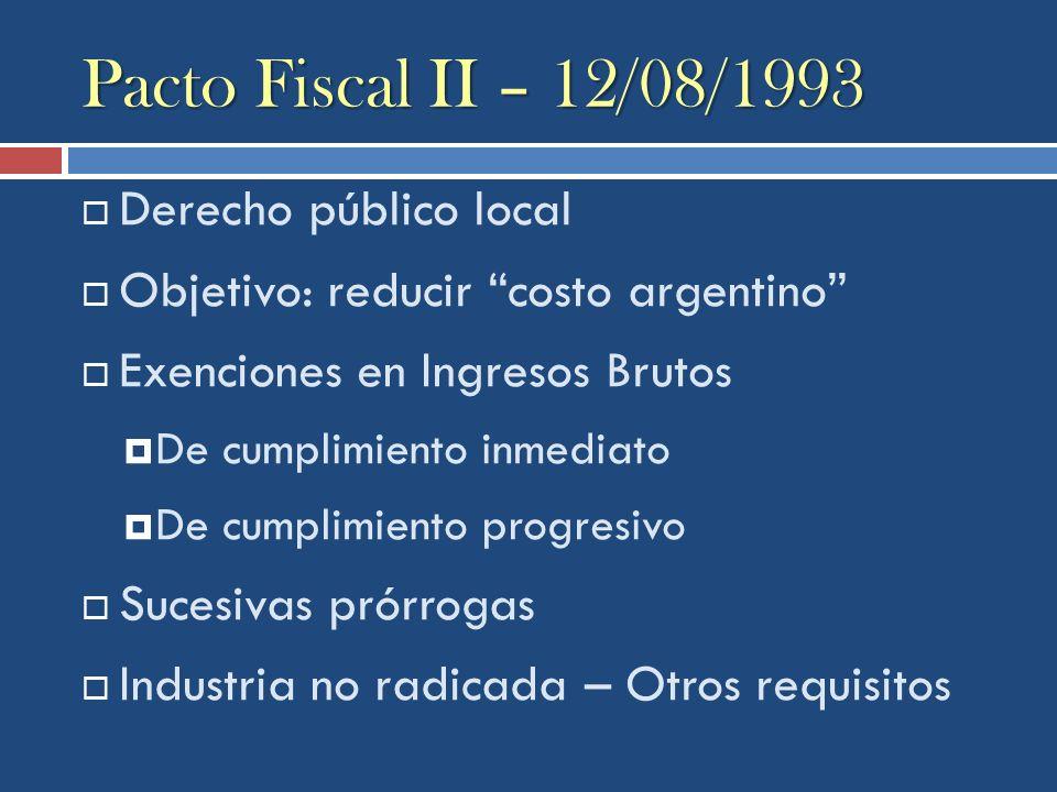 Pacto Fiscal II – 12/08/1993 Derecho público local
