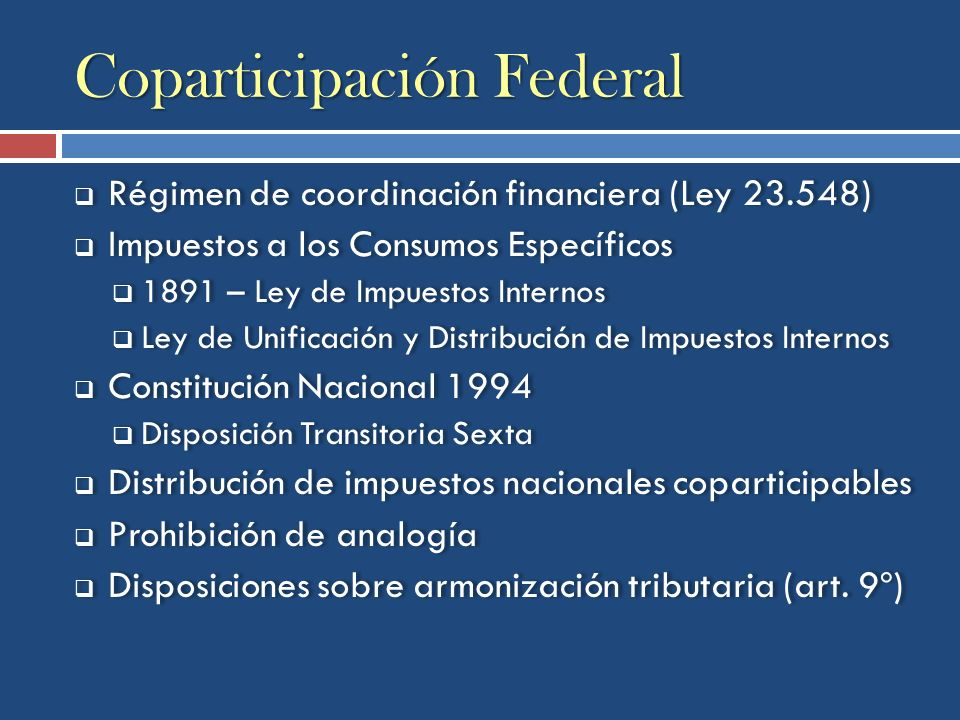 Coparticipación Federal