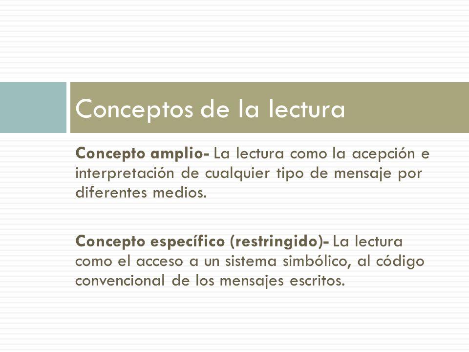Conceptos de la lectura