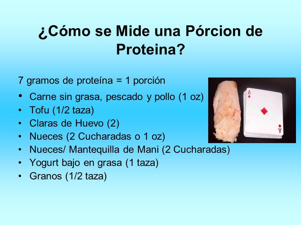 ¿Cómo se Mide una Pórcion de Proteina