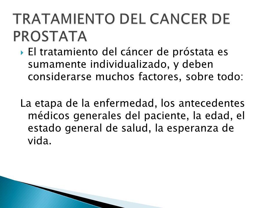 TRATAMIENTO DEL CANCER DE PROSTATA