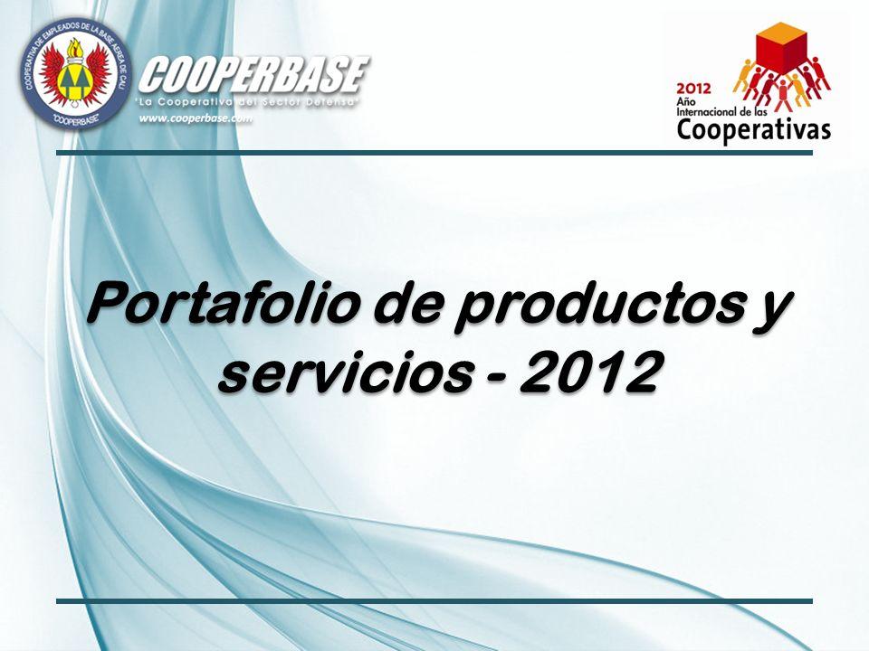 Portafolio de productos y servicios - 2012