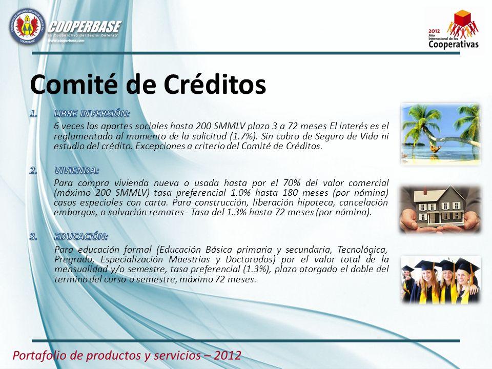 Comité de Créditos LIBRE INVERSIÓN: