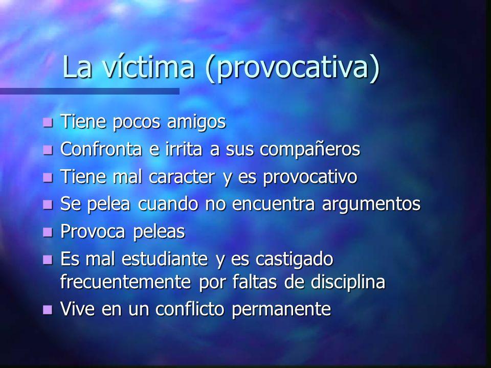 La víctima (provocativa)