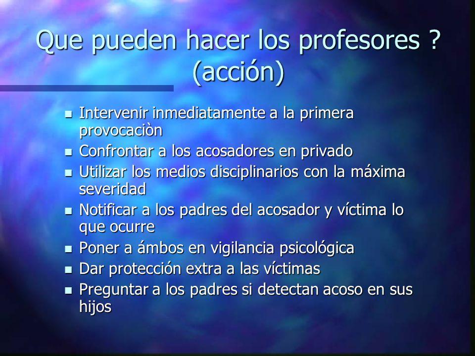 Que pueden hacer los profesores (acción)