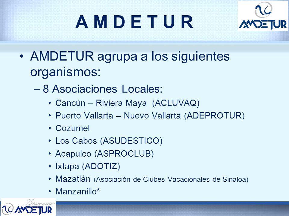 A M D E T U R AMDETUR agrupa a los siguientes organismos: