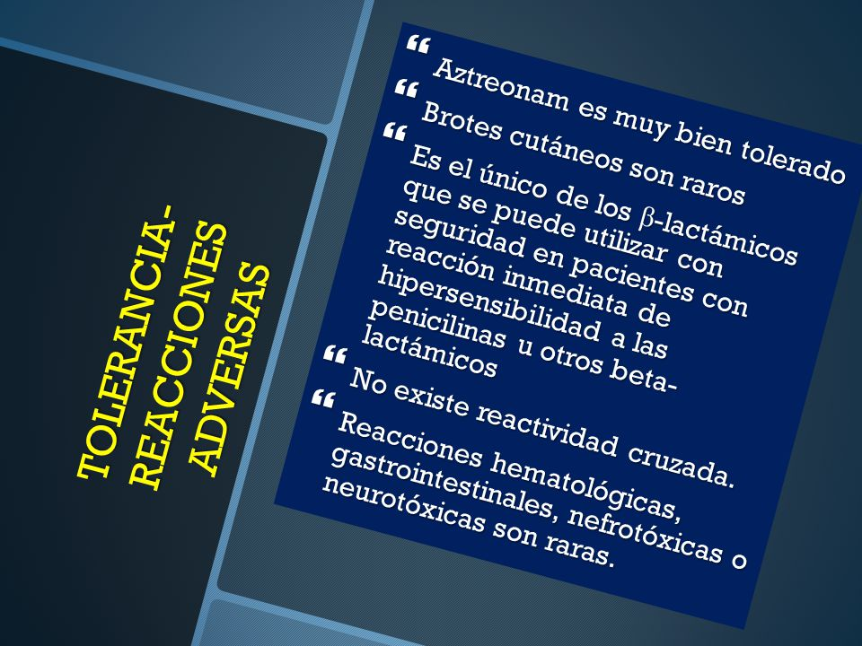 TOLERANCIA-REACCIONES ADVERSAS