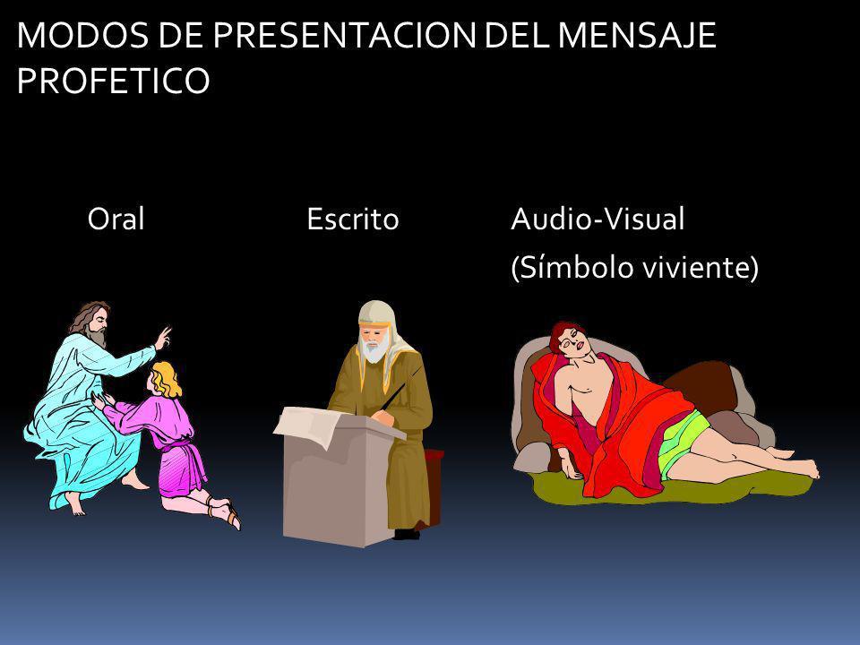MODOS DE PRESENTACION DEL MENSAJE PROFETICO