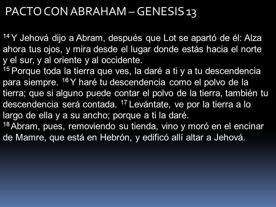 PACTO CON ABRAHAM – GENESIS 13