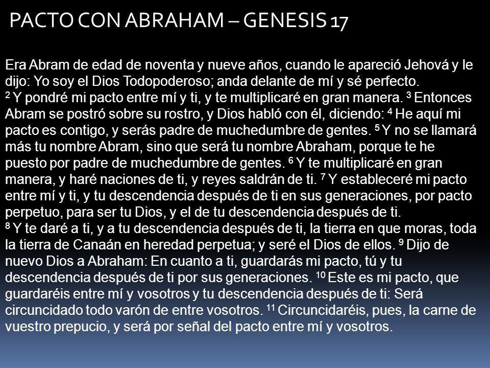 PACTO CON ABRAHAM – GENESIS 17