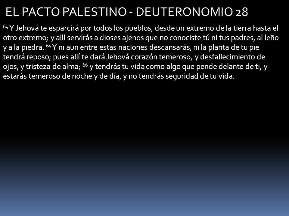 EL PACTO PALESTINO - DEUTERONOMIO 28