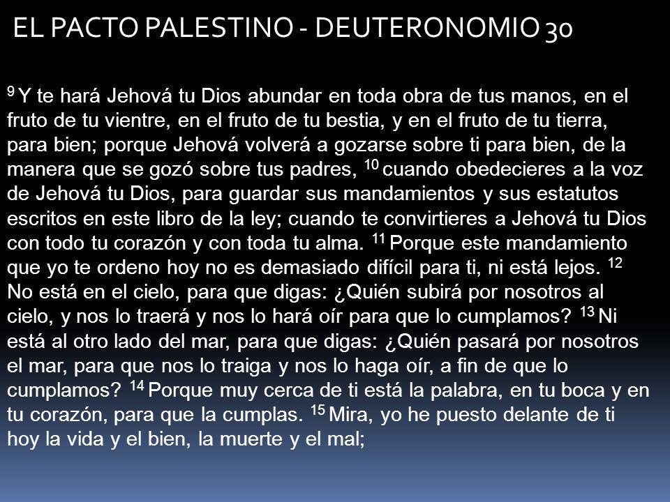EL PACTO PALESTINO - DEUTERONOMIO 30