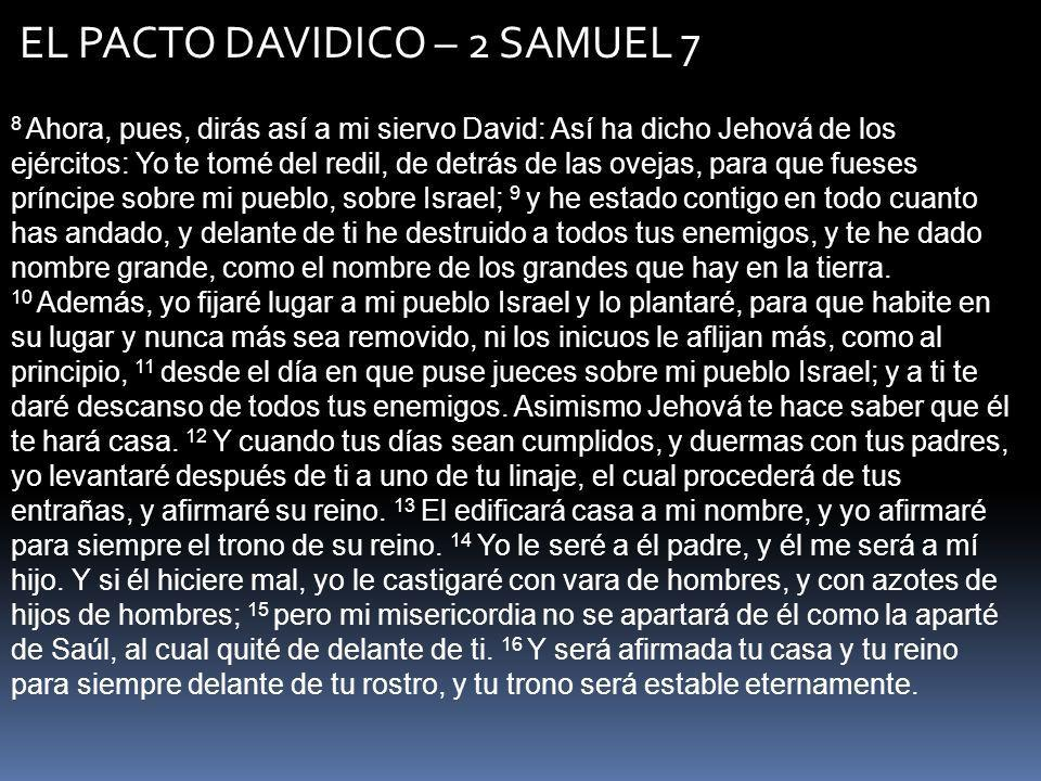 EL PACTO DAVIDICO – 2 SAMUEL 7