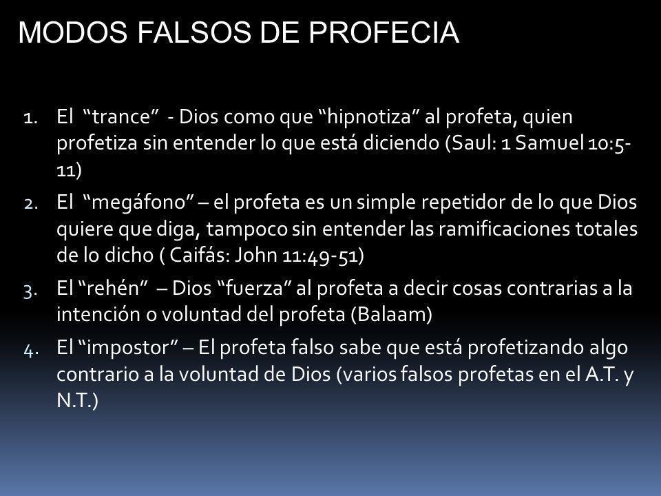 MODOS FALSOS DE PROFECIA