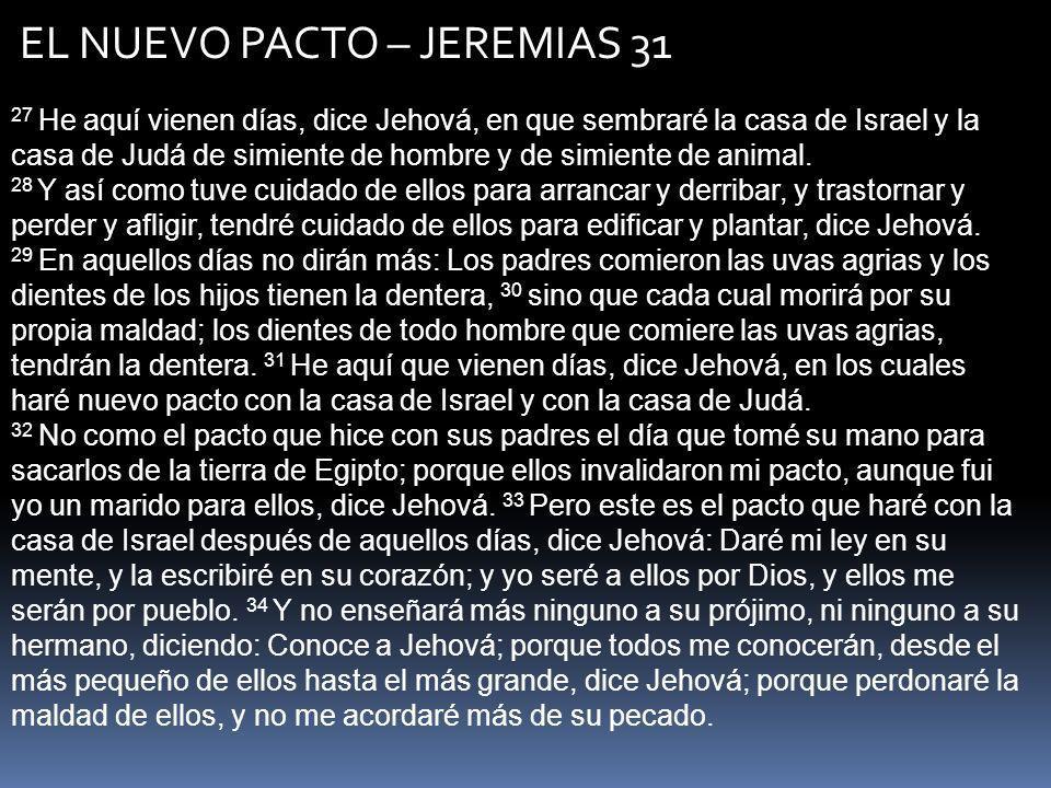 EL NUEVO PACTO – JEREMIAS 31