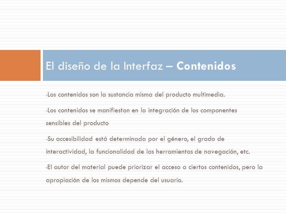 El diseño de la Interfaz – Contenidos