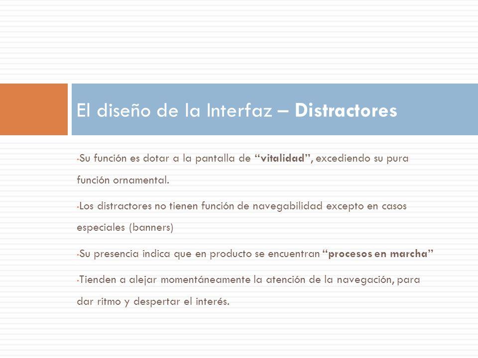 El diseño de la Interfaz – Distractores