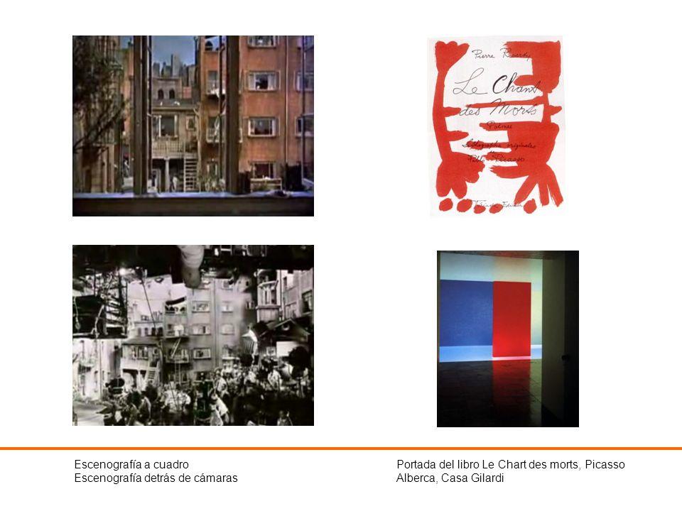 Escenografía a cuadroEscenografía detrás de cámaras. Portada del libro Le Chart des morts, Picasso.