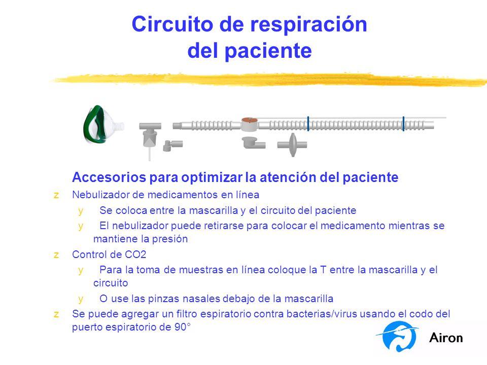 Circuito de respiración del paciente