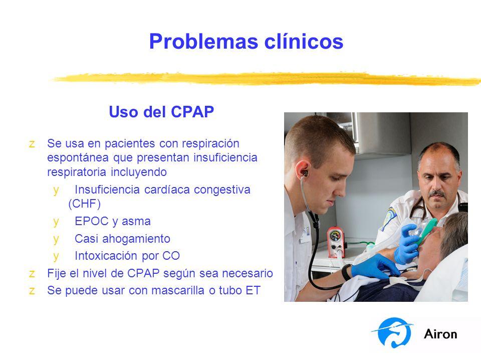 Problemas clínicos Uso del CPAP