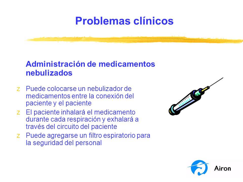 Problemas clínicos Administración de medicamentos nebulizados