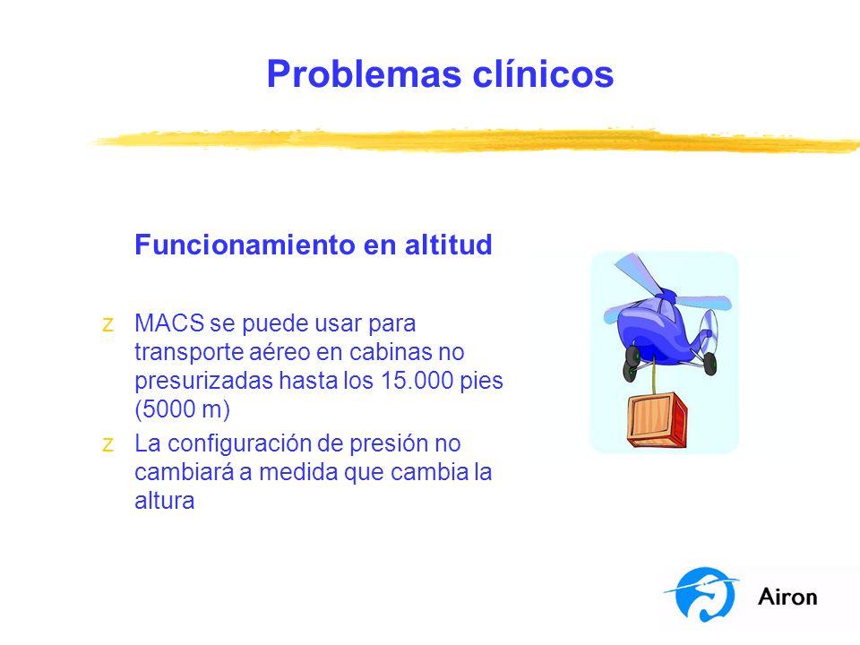 Problemas clínicos Funcionamiento en altitud