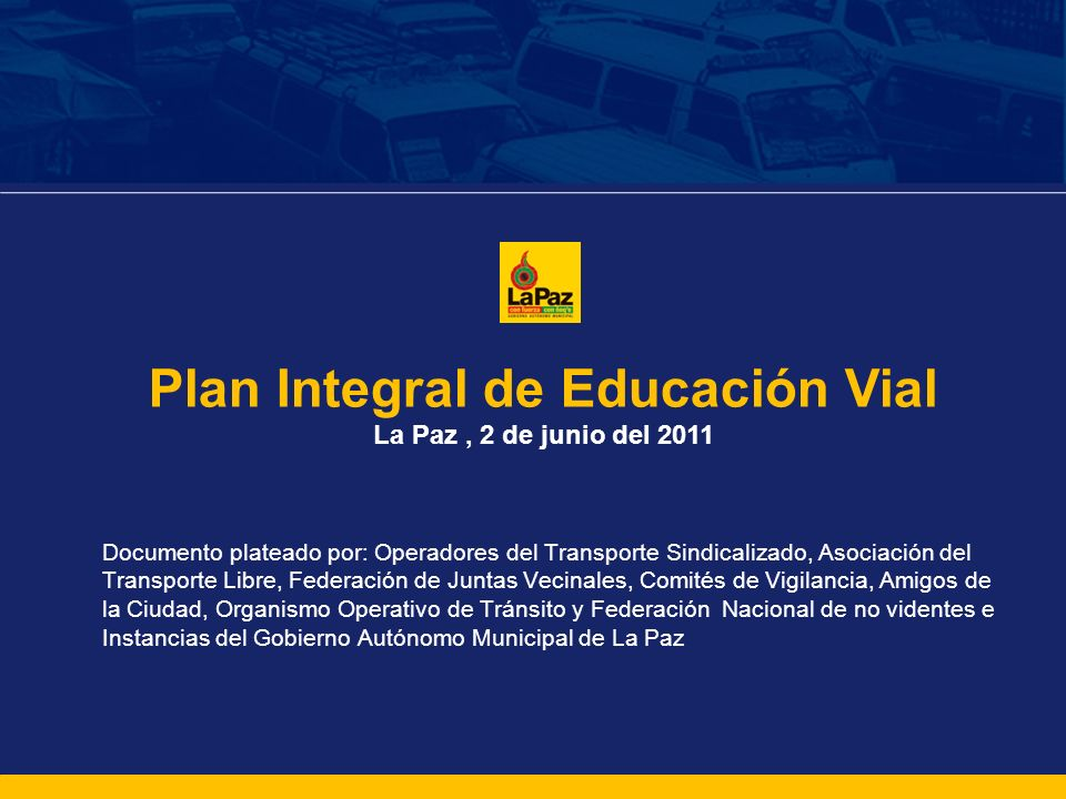 Plan Integral de Educación Vial
