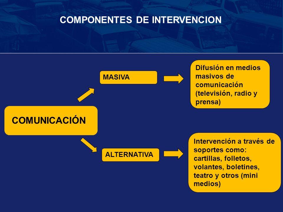 COMPONENTES DE INTERVENCION