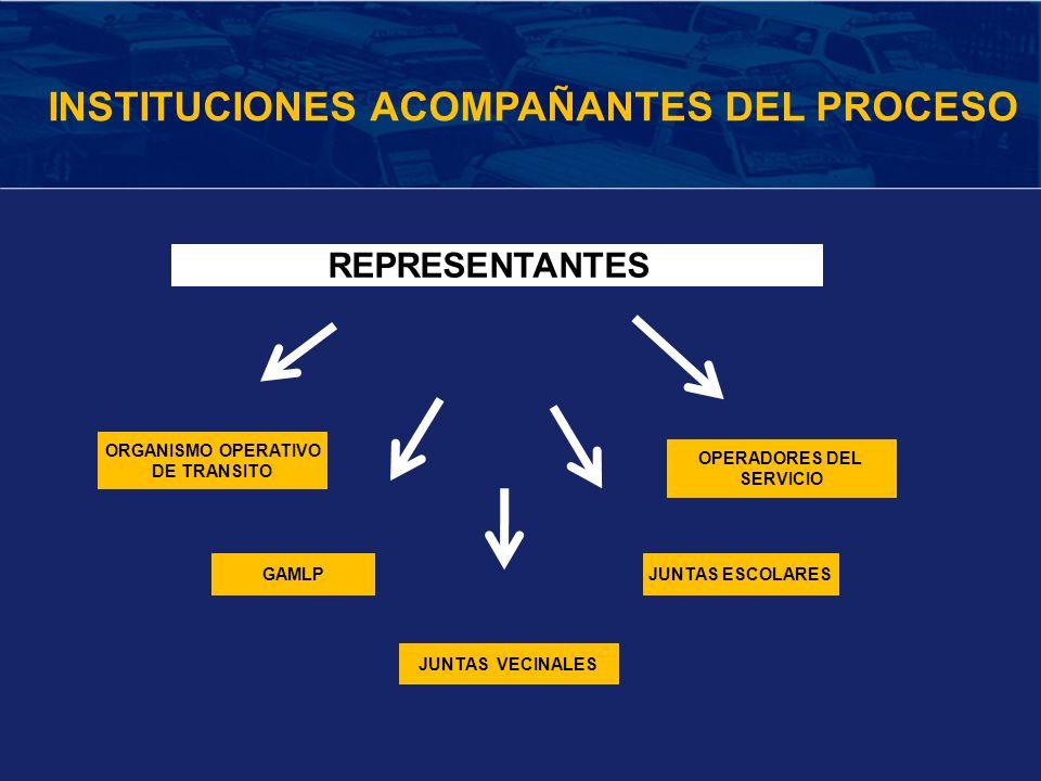 INSTITUCIONES ACOMPAÑANTES DEL PROCESO