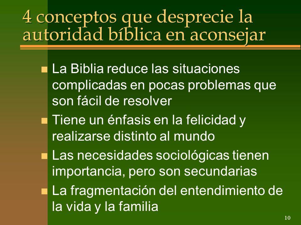4 conceptos que desprecie la autoridad bíblica en aconsejar