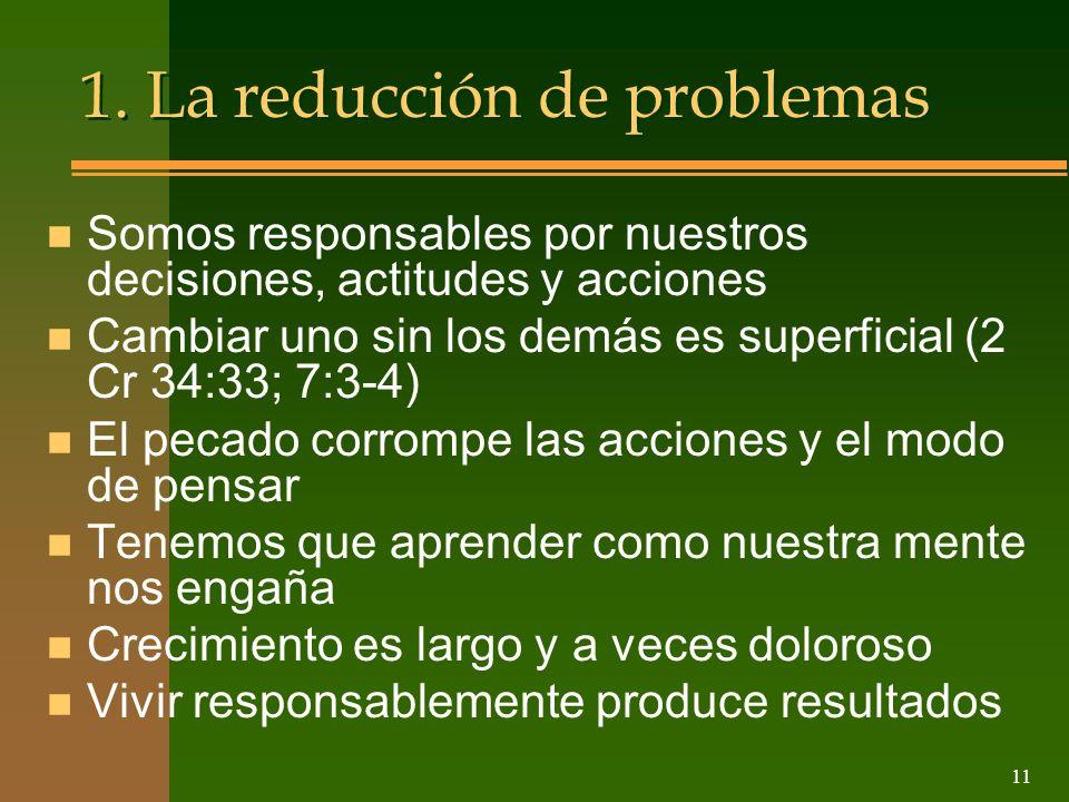1. La reducción de problemas