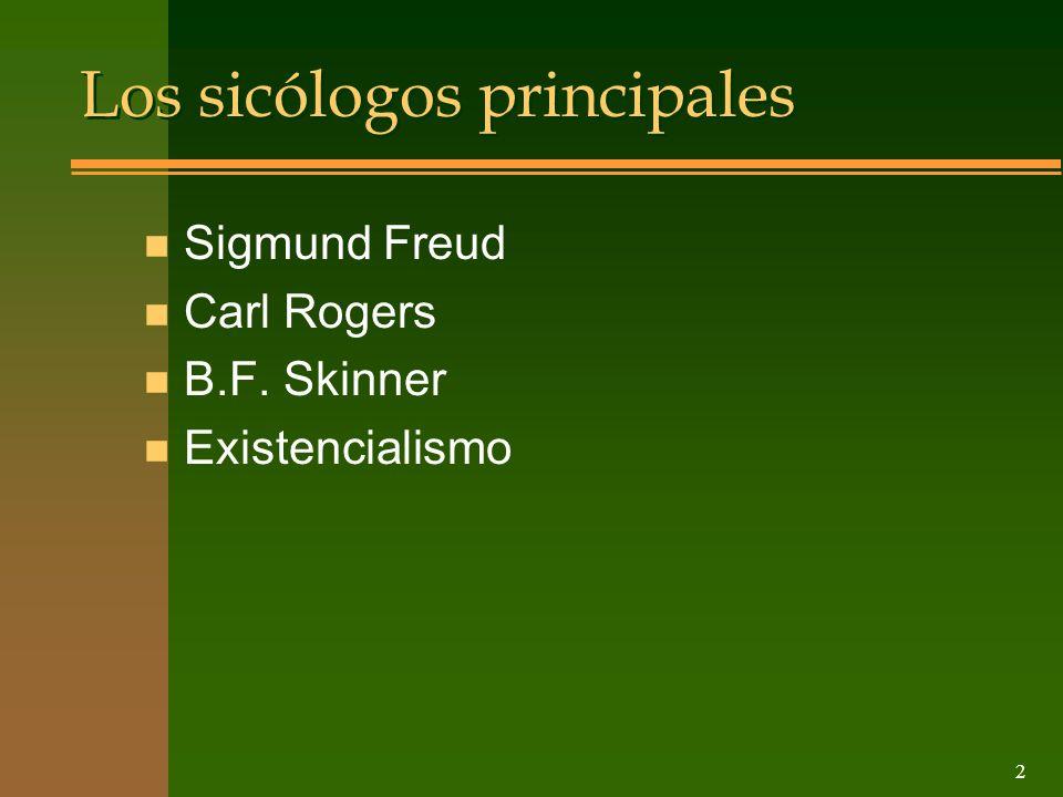 Los sicólogos principales