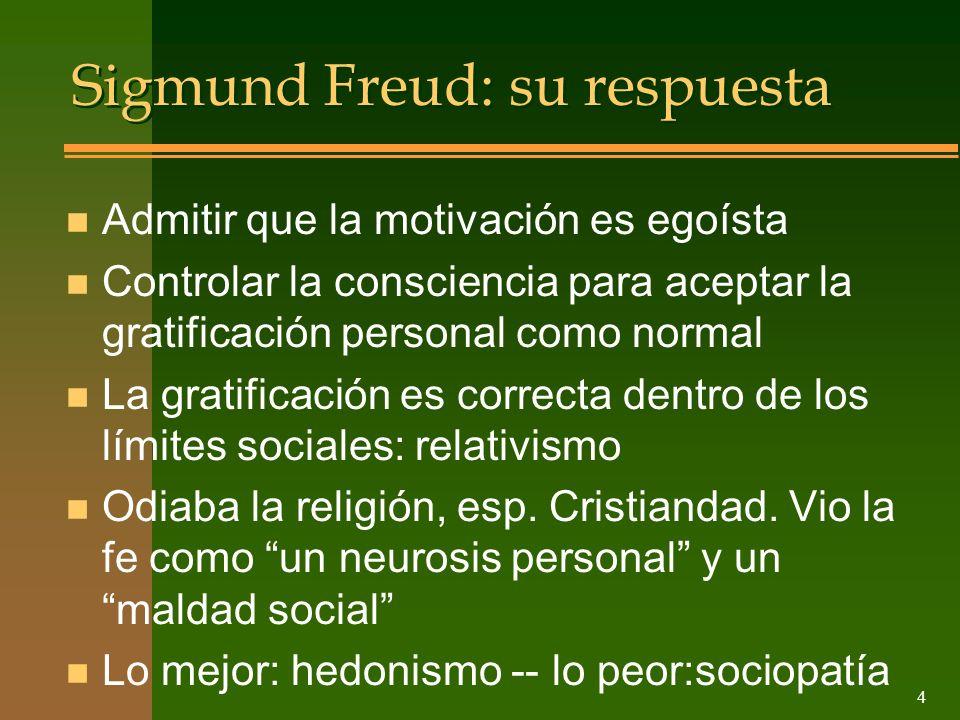 Sigmund Freud: su respuesta