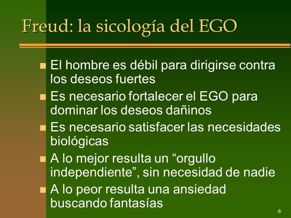 Freud: la sicología del EGO