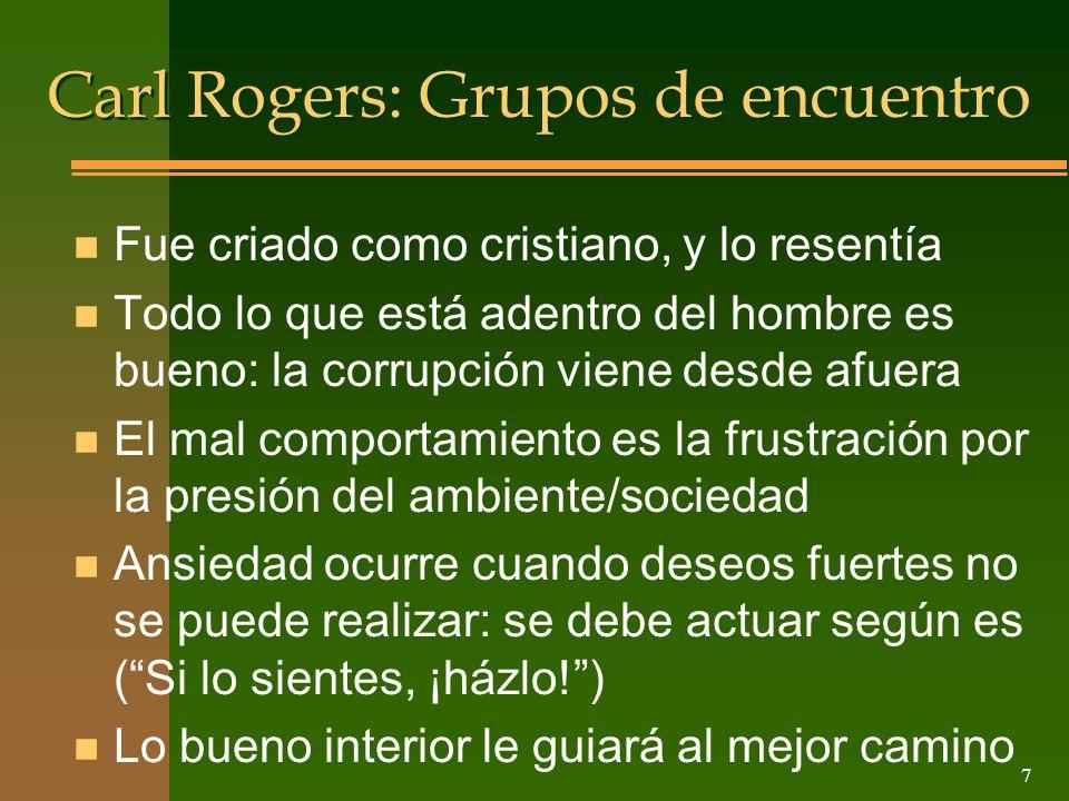 Carl Rogers: Grupos de encuentro